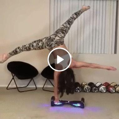 Garota mostrando habilidades em movimentos