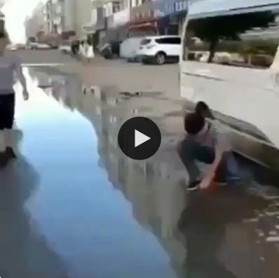 Era pra dar só um susto, mas acabou dando um banho